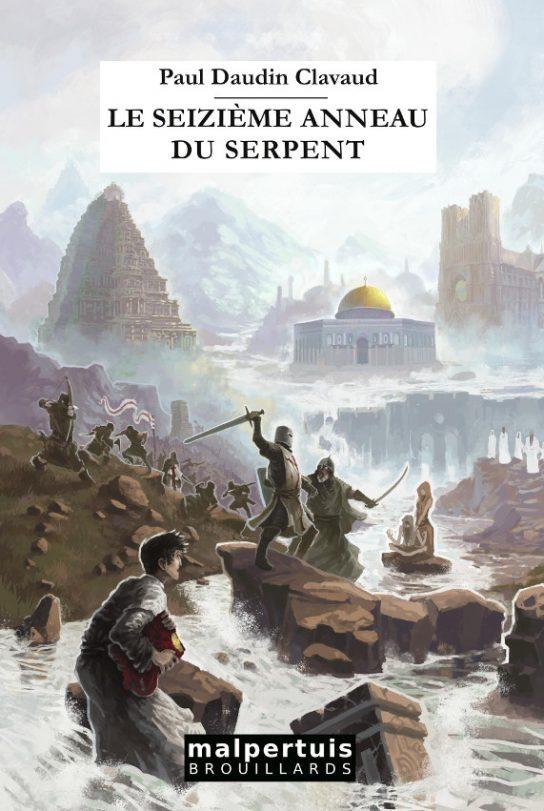 Page de couverture du roman Le seizième anneau du serpent, de Paul Daudin Clavaud