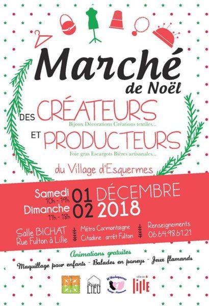 Marché de Noël des Créateurs et Producteurs – 01 et 02 décembre 2018