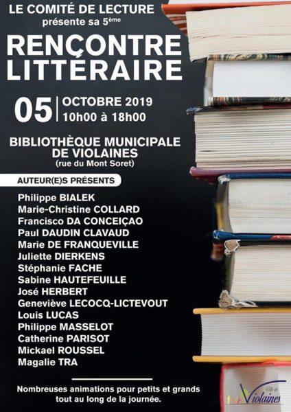 Rencontre littéraire de Violaines</br> 05 octobre 2019