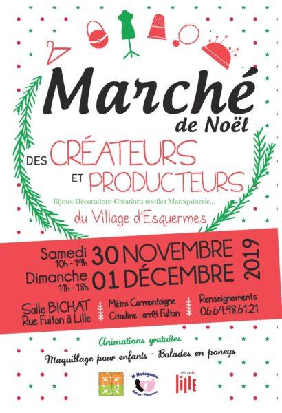 Marché de Noël des créateurs et producteurs – 30 novembre et 1er décembre 2019