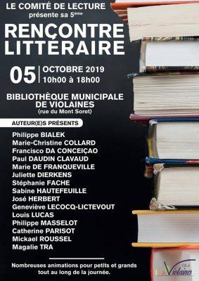 Affiche rencontre littéraire de Violaines
